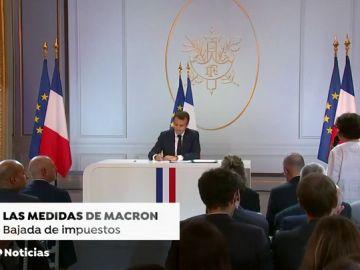 Macron anuncia una bajada de impuestos para frenar a los chalecos amarillos