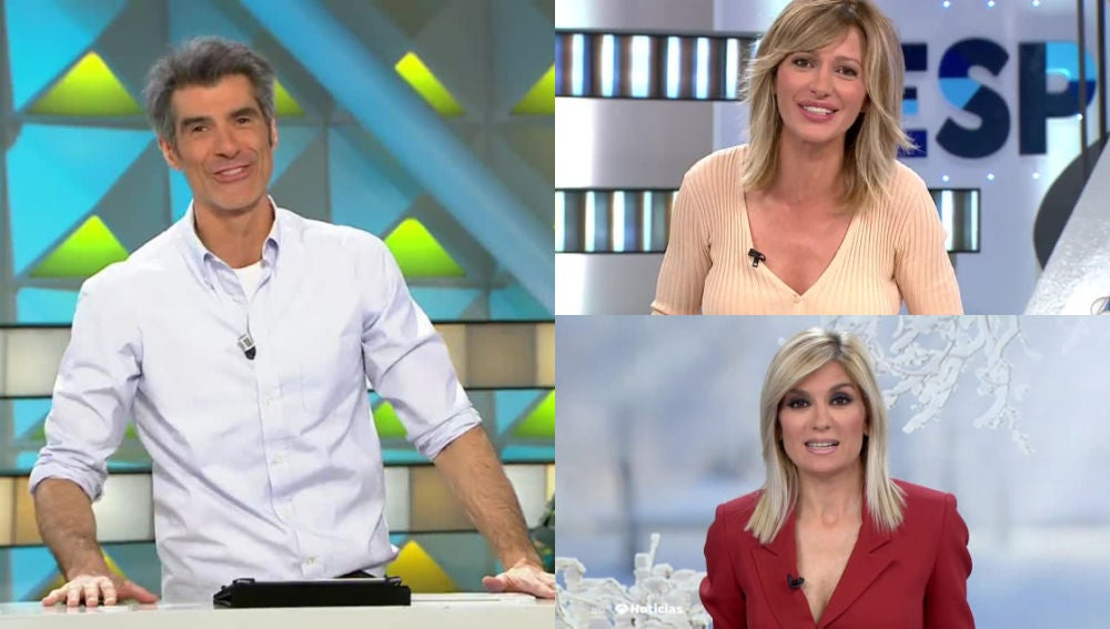 Jorge Fernández, Susanna Griso y Sandra Golpe