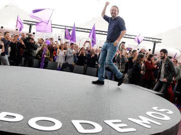 El secretario general de Podemos y candidato de Unidas Podemos a la Presidencia, Pablo Iglesias