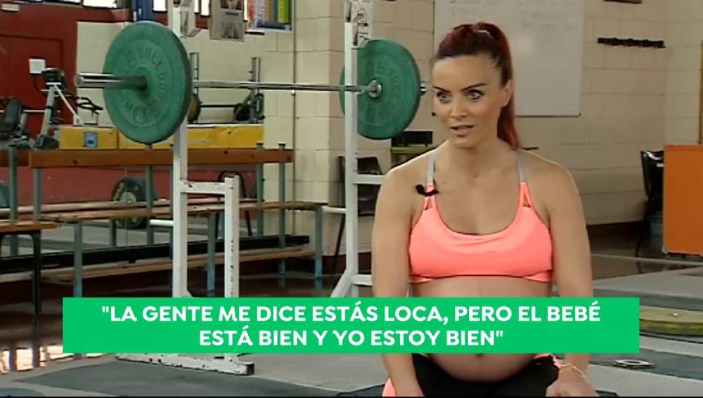 """Estefanía Juan entrena pese a estar embarazada de 8 meses: """"Prefiero entrenar a estar todo el día en casa"""""""