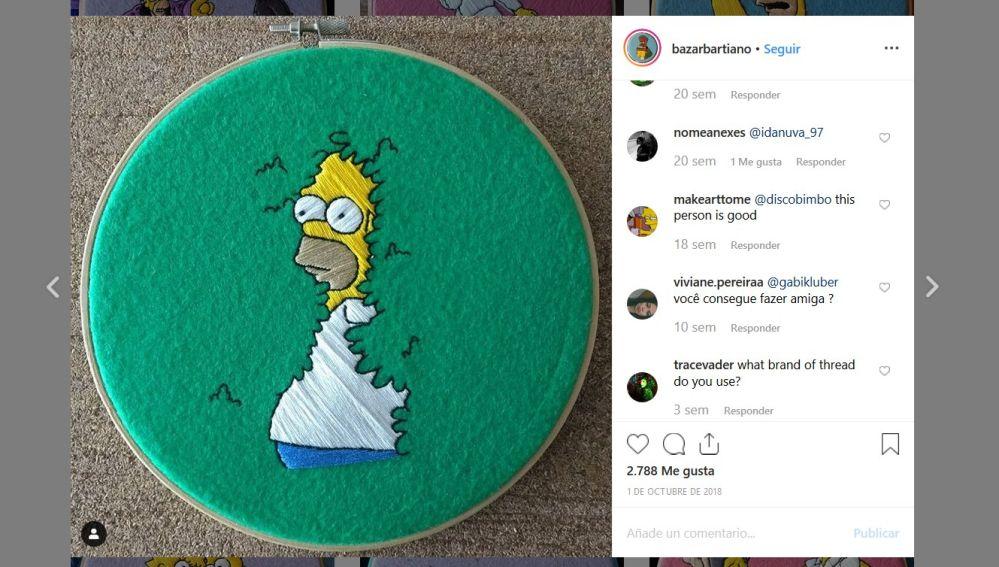 Homer perdiéndose en el seto