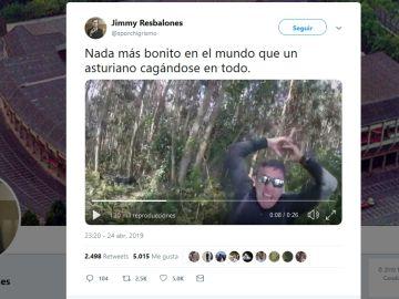 Asturiano cagándose en todo