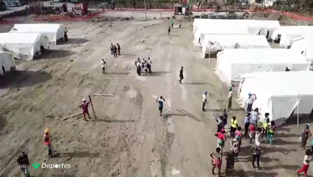El fútbol, contra el cólera en Mozambique: un equipo convierte sus instalaciones en un hospital de campaña