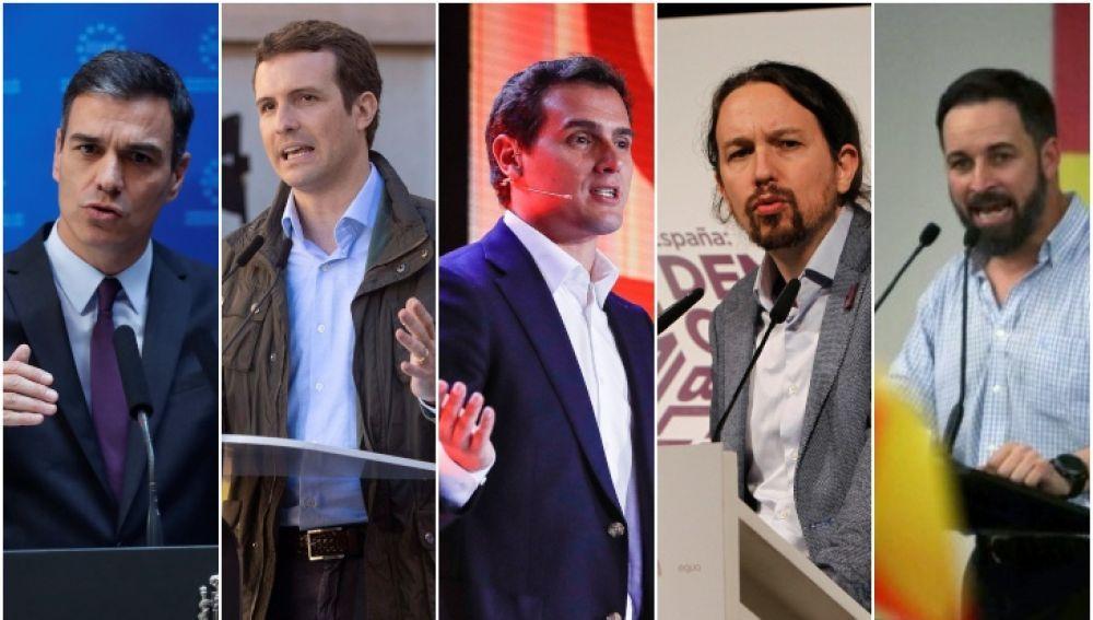 Último día de campaña: los principales candidatos eligen Madrid y Valencia para sus mítines de cierre