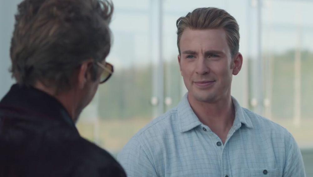Capitán América y Iron Man en 'Vengadores: Endgame'
