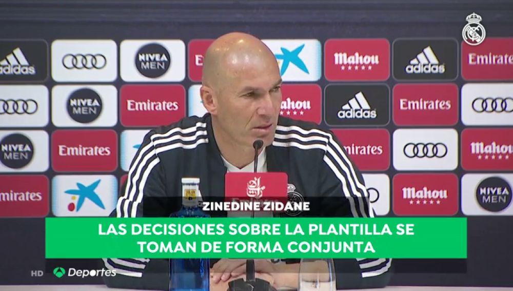 """Zidane, sobre su poder en los fichajes y los descartes del Real Madrid: """"Yo no mando ni en mi casa"""""""