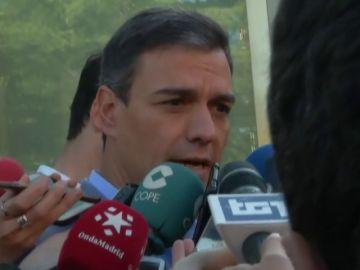 Pedro Sánchez llama a las urnas tras votar en Pozuelo