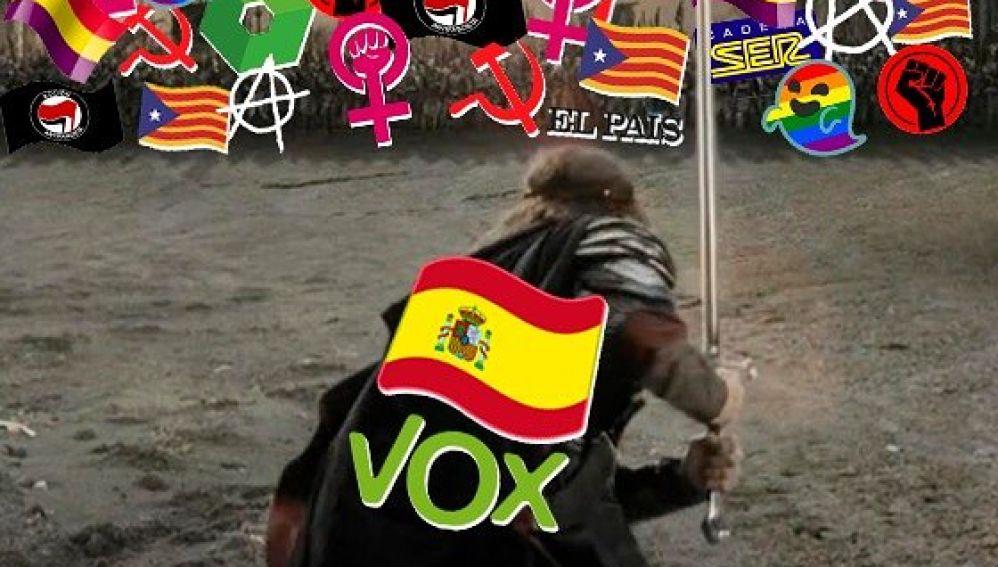 La imagen con la que Vox llamó al voto en redes