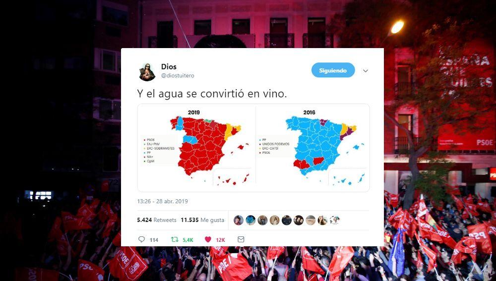 Los mejores memes de la noche electoral