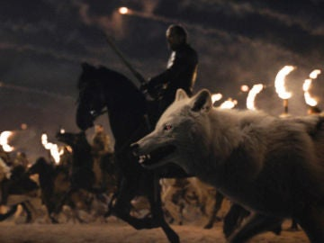 Fantasma, el lobo huargo de Jon Snow