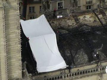 Imágenes grabadas por un dron de la policía de París