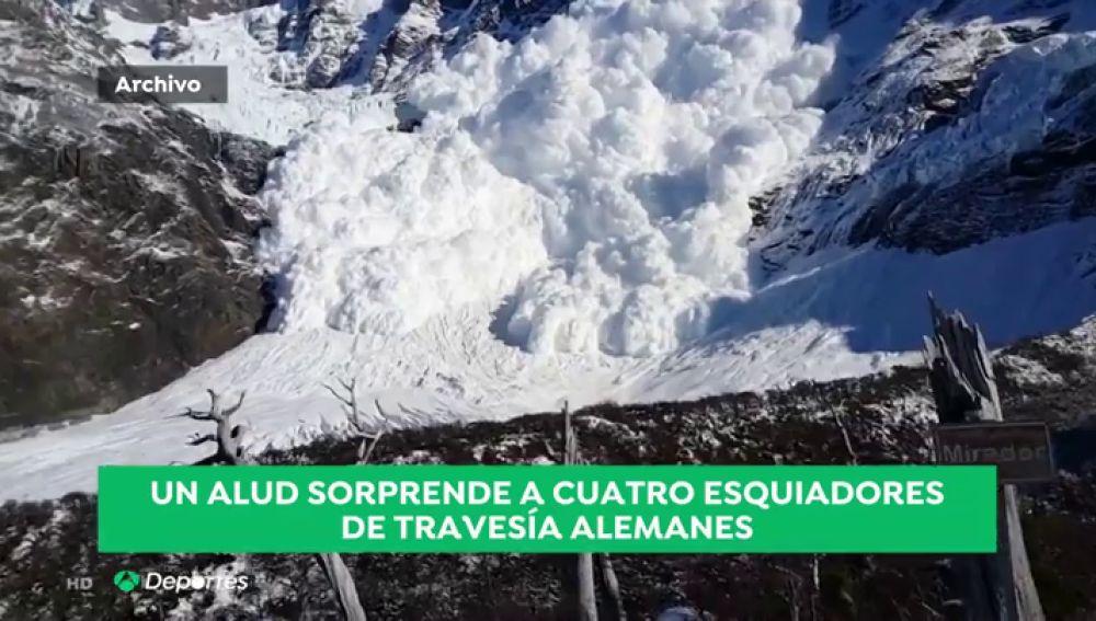 Mueren cuatro esquiadores alemanes por un alud de nieve en el mayor glaciar de los Alpes