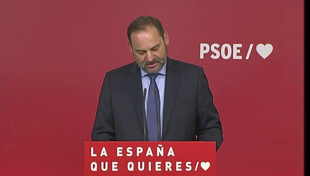 """Ábalos: """"El PP y Cs tienen que entender que los españoles no acepta más pactos a la andaluza"""""""