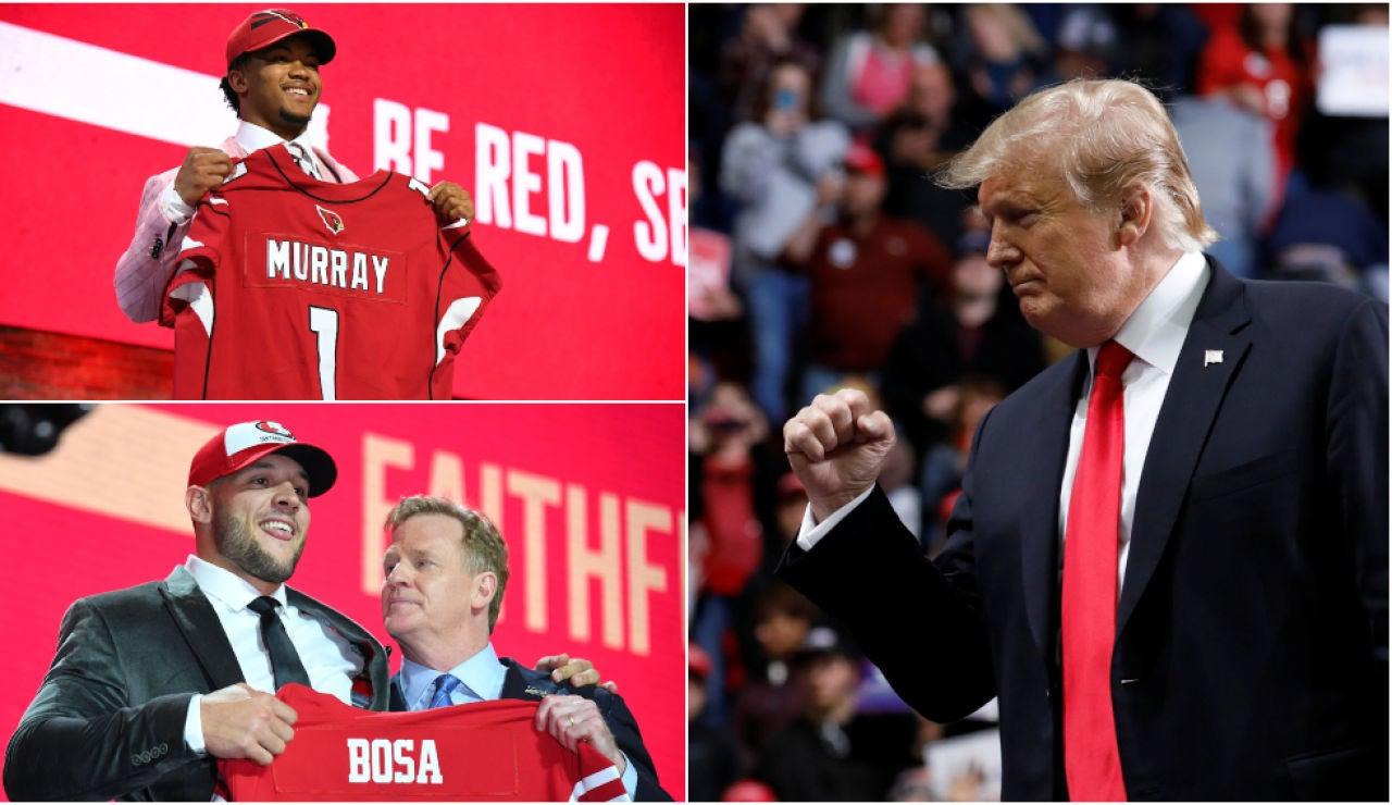 Trump, acusado de racismo tras el draft de la NFL