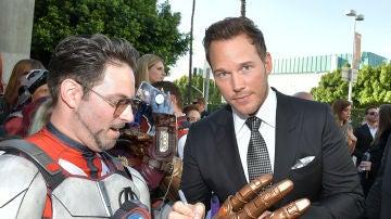 Chris Evans en la premiere de 'Vengadores: Endgame'