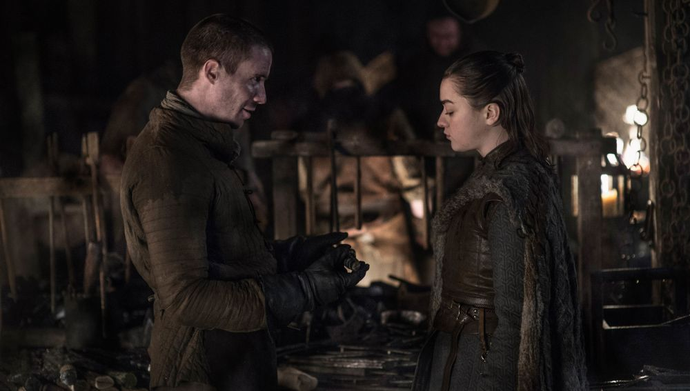 Arya y Gendry en el capítulo 8x02 de 'Juego de Tronos'