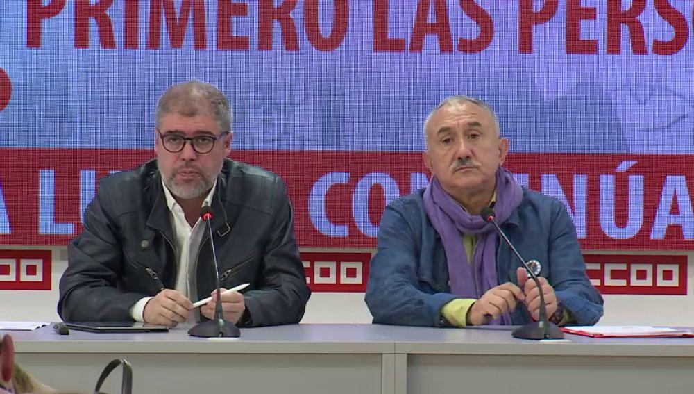 Los sindicatos piden al PSOE un Gobierno de izquierdas
