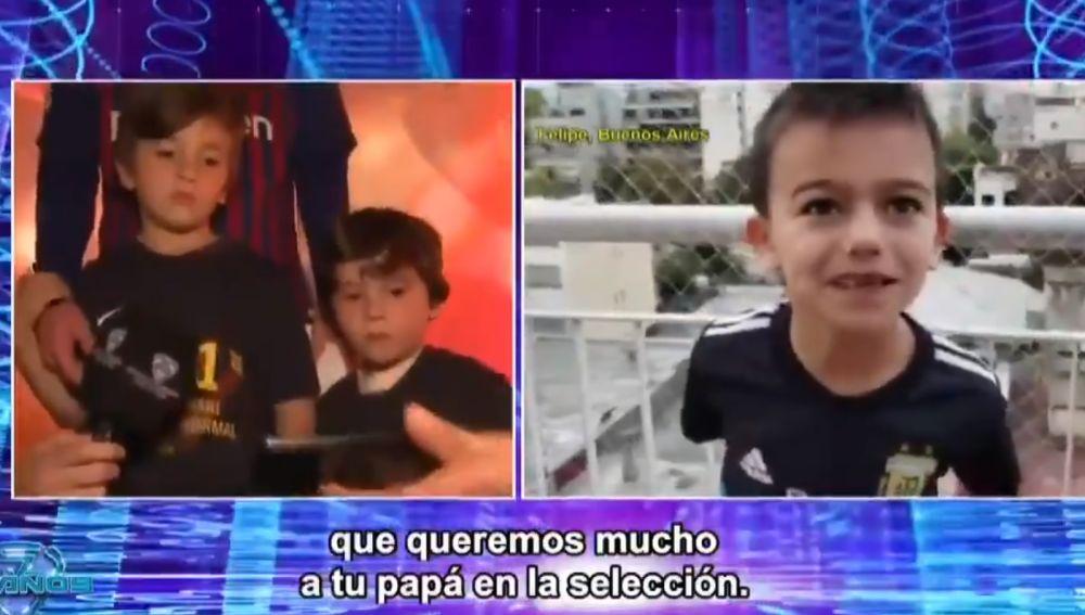El hijo de Messi, escuchando los elogios a su padre