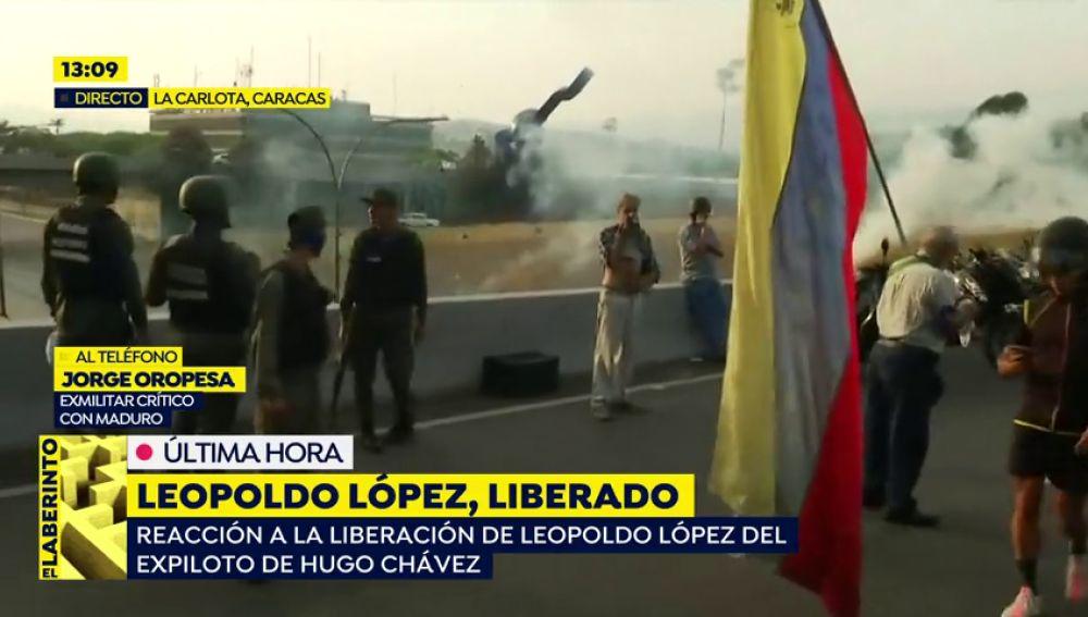 """Exmilitar venezolano: """"Varias ciudades ya están tomadas por los militares"""""""