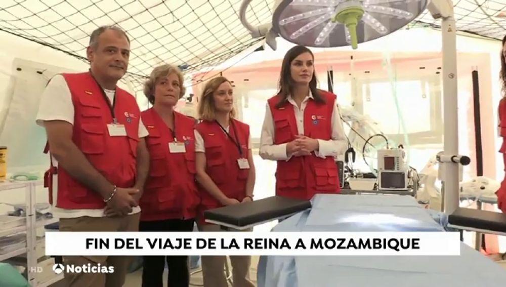 La reina Letizia finaliza su viaje en Mozambique