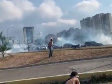 Situación en las calles de Caracas, Venezuela
