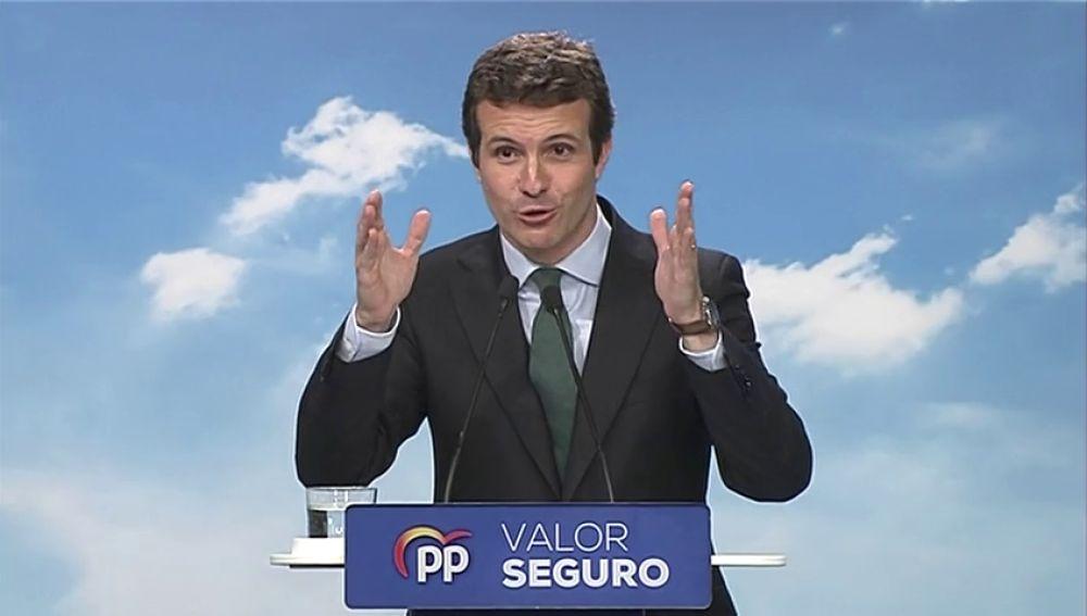 """Casado reafirma al PP como el centro frente a la """"ultraderecha"""" de Vox tras el Comité del partido"""