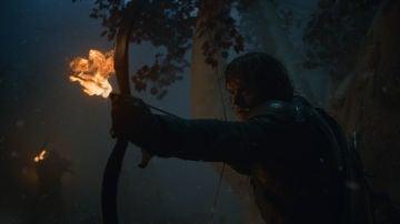 Theon en la oscuridad de 'Juego de Tronos'