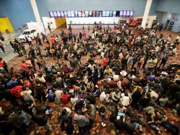 Fans de los Vengadores en el estreno de la película