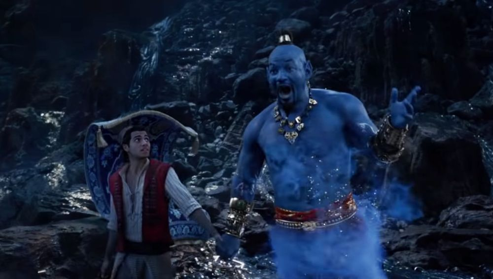 Mena Massoud y Will Smith en 'Aladdin'