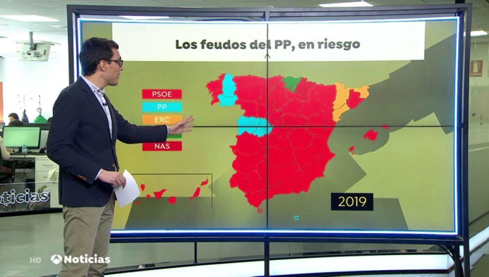 El PP solo gana en cuatro provincias y se abre una crisis dentro del partido