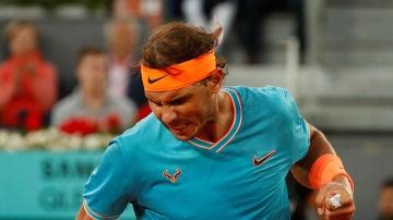 Rafa Nadal celebra su victoria contra Tiafoe
