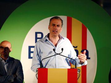 El secretario general de Vox, Javier Ortega Smith, en el arranque de campaña en Madrid.