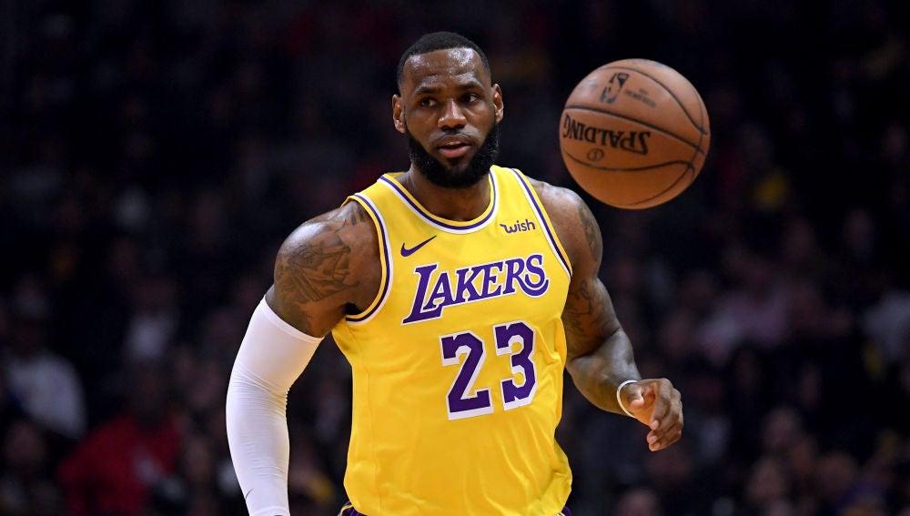 LeBron James, durante un partido de Los Ángeles Lakers
