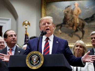 Donald Trump durante una rueda de prensa