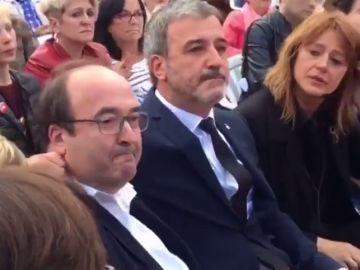 Un emocionado Iceta despide a Rubalcaba en un acto del PSC en Barcelona