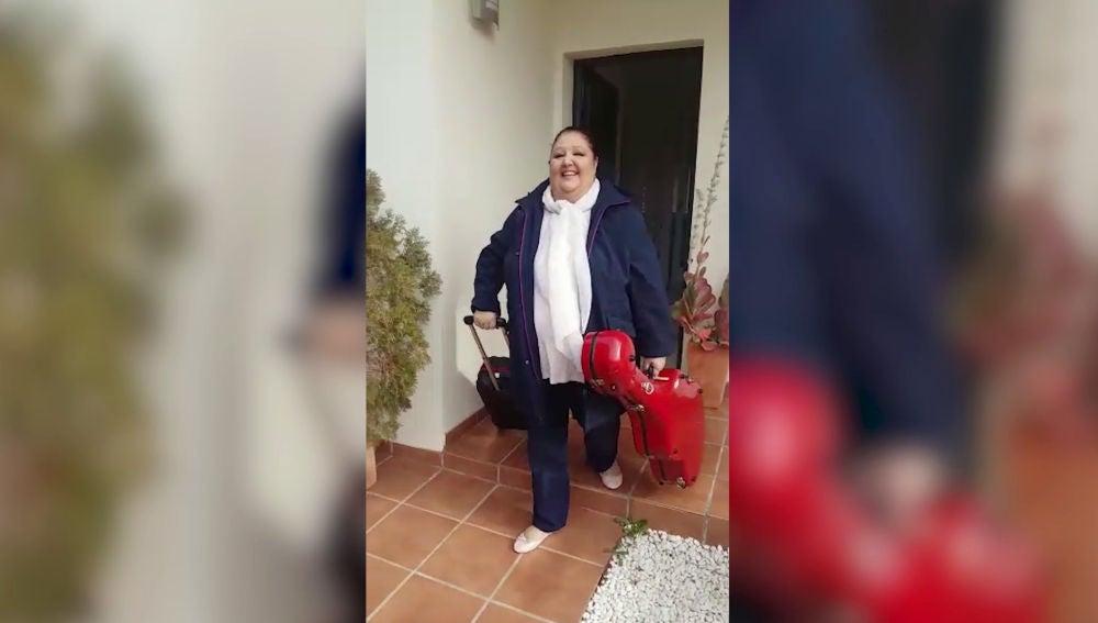 La Tata, feliz y emocionada antes de llegar a 'La Voz Senior'