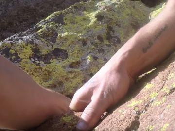 Kyle Walker, en mitad de su accidentada escalada en Colorado
