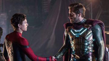 Tom Holland y Jake Gyllenhaal en 'SpiderMan: Lejos de casa'
