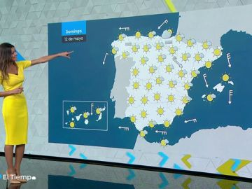 El domingo, tiempo seco y temperaturas muy altas en vertiente atlántica y Canarias