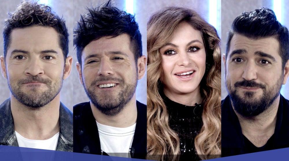 David Bisbal, Pablo López, Paulina Rubio y Antonio Orozco ponen a pruebas sus conocimientos musicales en el test de 'La Voz Senior'