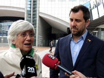 Los exconsellers Clara Ponsatí y Antoni Comín