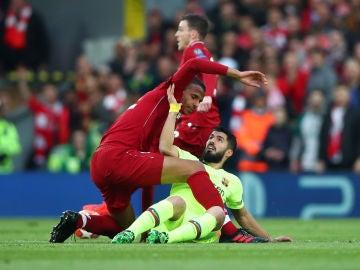 Luis Suárez, durante el partido contra el Liverpool