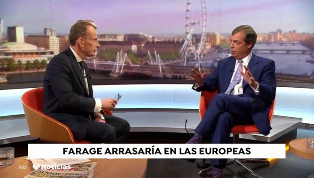 """Farage, a un periodista de la BBC: """"Es la entrevista más ridícula que he visto nunca"""""""