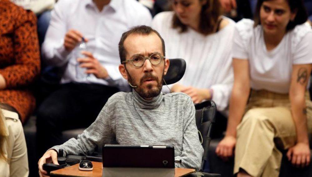 El número tres de Podemos, Pablo Echenique