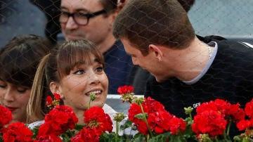 Aitana Ocaña y Miguel Bernardeau en el Mutua Madrid Open