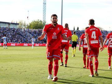 Borja Iglesias, ante el Leganés