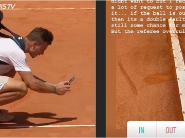 Marton Fucsovics sacando una fotografía al bote de la pelota