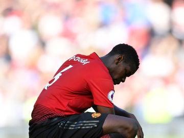 Pogba en el último partido de Premier League ante el Cardiff