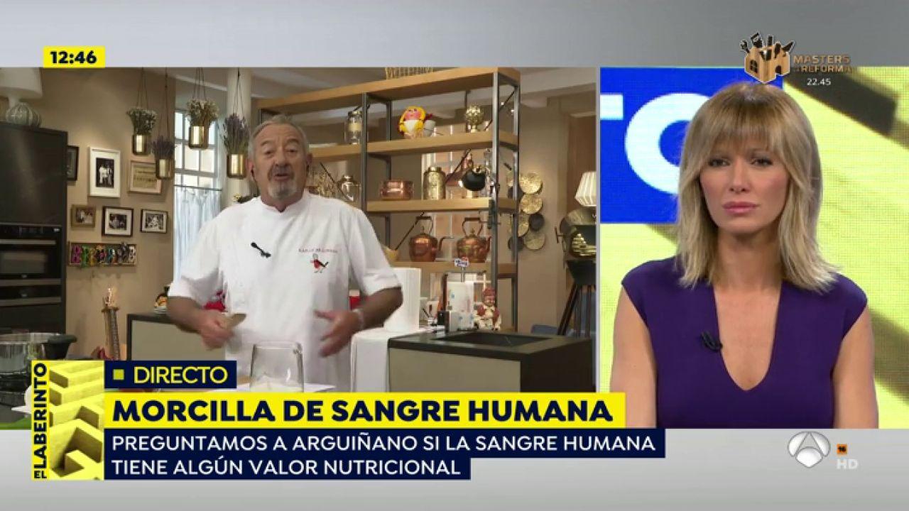 Karlos Arguiñano, Sobre Las 'morcillas Veganas' De Sangre