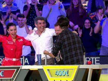 'La ruleta de la suerte' celebra a lo grande la gran jugada de Marron